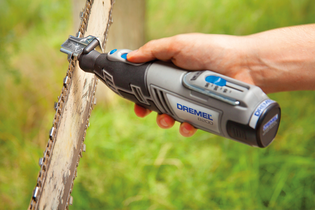 How to sharpen a chainsaw with Dremel